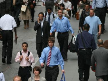 Financial sector workers saw a 22.7 percent increase in their weekly wages in the first quarter of 2010.