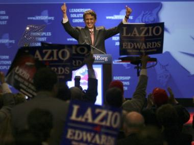 Rick Lazio won the GOP Committee endorsement for the Republican Gubernatorial nomination Wednesday.