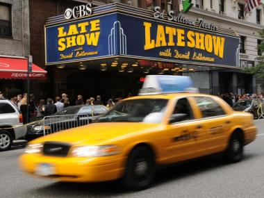 The concert was planned for the marquee of the Ed Sullivan Theater at rush hour.