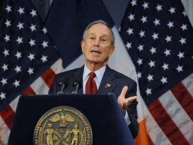 Mayor Michael Bloomberg won't be dining with voters this Thanksgiving.