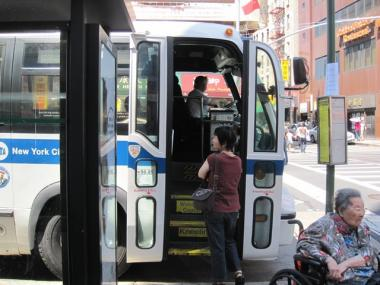 The MTA rehired around 100 bus drivers who were laid off in June.