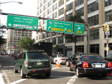 Traffic on Hudson Street leading up to the Holland Tunnel regularly backs up for blocks. The lanes that feed the tunnel will be closed for five-and-a-half years starting as soon as next month.