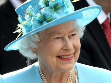 Queen Elizabeth II at a garden party in Ottawa, Canada, on June 30.