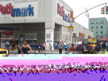 A 50-year-old man was stabbed in the throat near this Pathmark on 125th Street and Lexington Avenue Saturday morning.