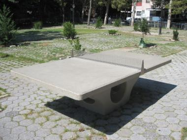 The ping-pong table in Gulick Park on the Lower East Side.