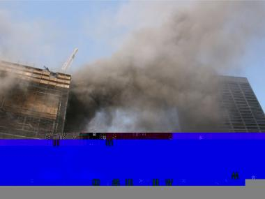 A 2007 fire at the Deutsche Bank building claimed the lives of two firefighters.