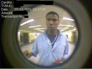 Police are looking for this man for allegedly using a stolen credit card in Penn Station on Monday, July 12, 2010.