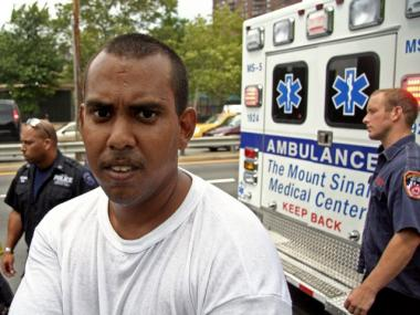 Jonathan Barbosa, 28, rescued a man drowning in the East River near 106th Street.