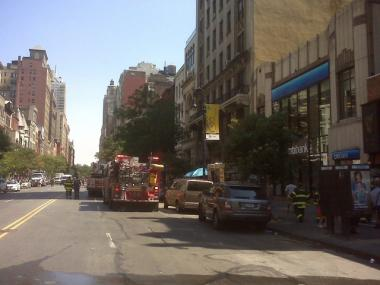 Firefighters respond to a transformer fire by evacuating 146 W. 72nd St.