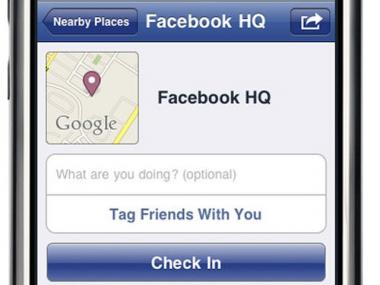 The new Facebook Places application launched on Thursday.