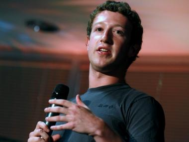 Facebook Founder and CEO Mark Zuckerberg speaks at the company's Palo Alto headquarters in August.