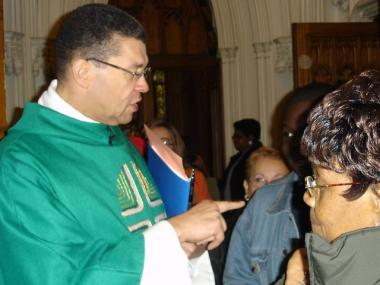 Monsignor Wallace Harris was the highest-ranking black priest in the New York Archdiocese.