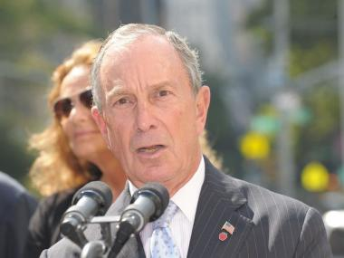 Mayor Bloomberg speaking in September. The mayor said that forcing small businesses to offer paid sick days is a