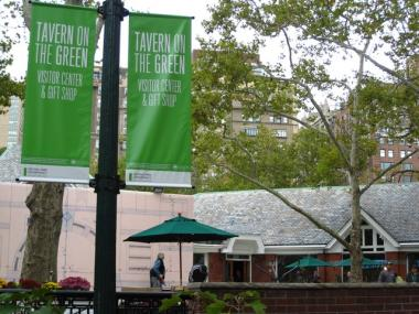 Tavern on the Green will re-open Friday as a visitors center and gift shop, with food trucks parked in the terrace area.