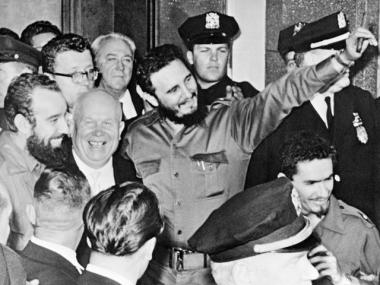 Fidel Castro outside the Hotel Theresa in Harlem in 1960. Known as