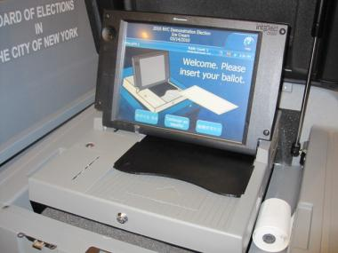The city rolled out its new optical scanning voting machines for September's primary election.