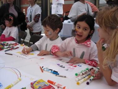Students at the Spruce Street School helped out at a school fundraiser last year.