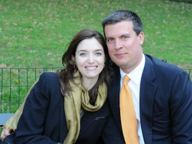 Lauren Holzer, 31, lawyer and Eric Helenek, 34, banker, both residents in West Village.