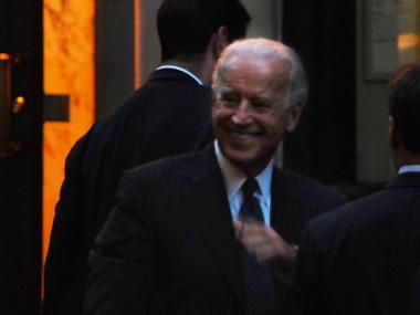 Vice President Joe Biden headlined a fundraiser for New York Senator Kirsten Gillibrand Tuesday.
