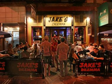 Saturday's Upper West Side fall bar tour kicks off at Jake's Dilemma and continues at five other bars.