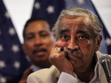 Representative Charles Rangel apologized to supporters after a House panel recommended he be censured.