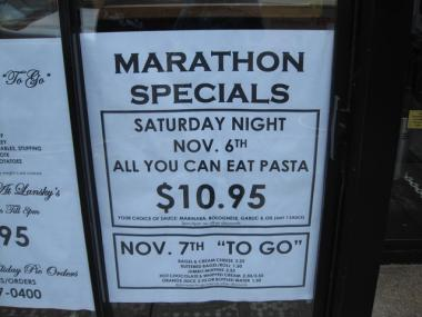 Lansky's Old World Deli is offering marathon specials for runners and spectators this weekend.