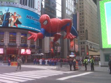 The friendly neighborhood Spider-Man thrilled crowds.