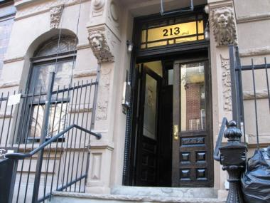 The entrance to 213 E. 10th St.