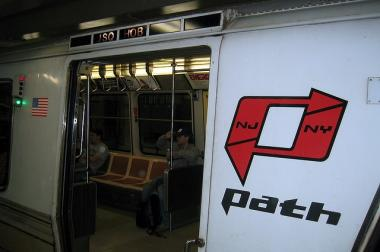 PATH train service was disrupted Monday because of a broken third rail.