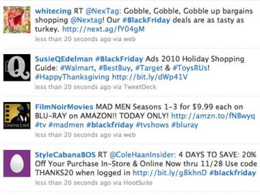 Retailers listed deals on Twitter before Black Friday.