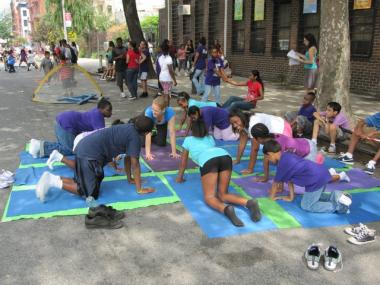 East Harlem kids learn yoga.