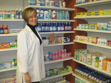 Elena Baranov, 39, is a co-owner and pharmacist at the new Elm Health Grocery Store in Greenwich Village.