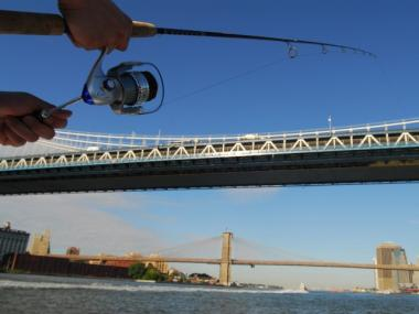 Fly-fishing in the East River in 2006.