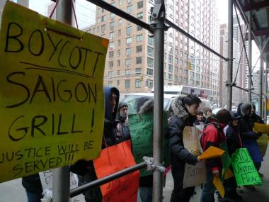 Workers at Saigon Grill say the restaurant's new owners are repeating some of the same poor labor practices as the last owners, who violated labor laws.