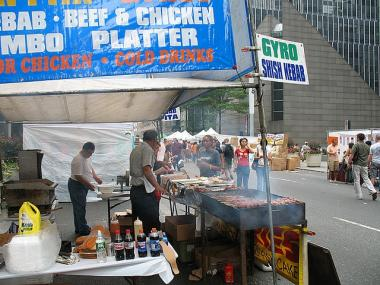 A typical summer street fair on Lexington Avenue.