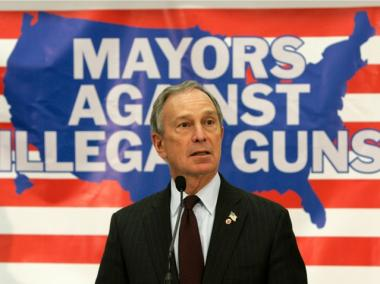 New York City Mayor Michael Bloomberg speaks during a news conference with local mayors on joining together against illegal guns, in Cincinnati in this April 12, 2007 file photo.