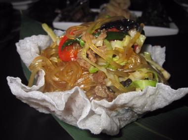 Woo Lae Oak was credited with introducing Korean food, like this traditional Jap Chae dish, to westerners.