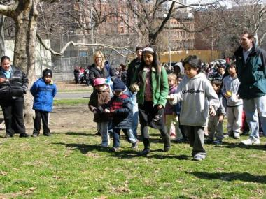 Children at a gathering in Morningside Park.