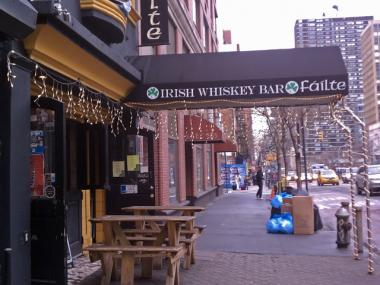 A fire broke out the chimney of the Failte Irish Whiskey Bar in Murray Hill on Feb. 28.