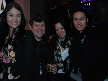 Angela Gilltrap, editor-in-chief of Running with Heels; Stephen Ciulloi, fashion photographer; Lauren Garzon, Asst. Manager Front Office, Pierre Hotel; and Alex Chen, personal trainer