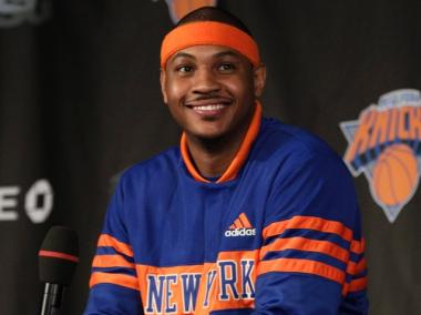 Carmelo Anthony was thrown a welcome party in the West Village by teammate Amar'e Stoudemire on Wednesday, Curbed reported.