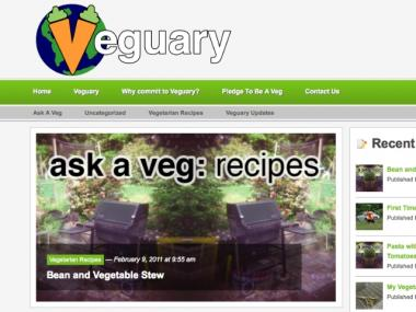 Veguary organizers used the free publishing software WordPress to create their website, Veguary.org.
