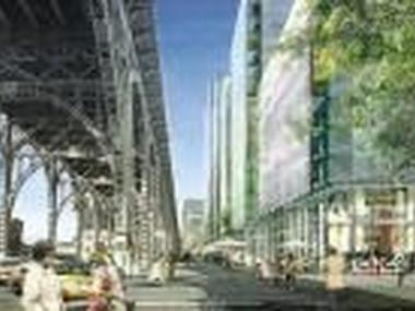 A rendering of Broadway at 131st Street.