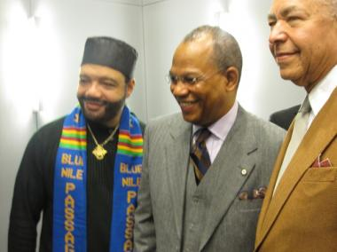 The Rev. Calvin Butts was awarded an honarary doctorate from Morehouse at teh SUNY Global Center in Midtown.