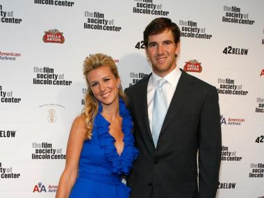 Eli Manning and his wife, Abby, had their first child on March 21, 2011.