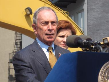 Mayor Michael Bloomberg was in Brooklyn Monday to break ground on a new brownfield clean-up site.