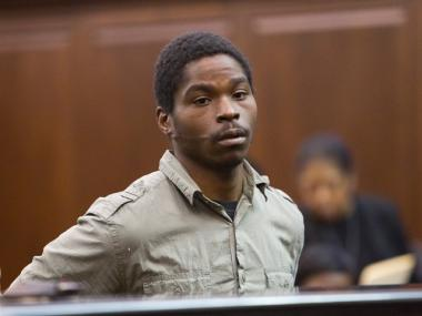 Larry Davis, 22, was arraigned on April 16 in Manhattan Criminal Court on charges he murdered his grandmother and stuffed her body into a closet.