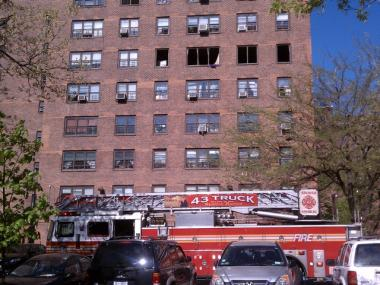 A fire broke out at the Washington Houses at 1955 Second Avenue Friday.