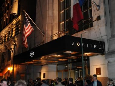 The Sofitel, on West 44th Street, is reportedly the site of the alleged sexual assault.