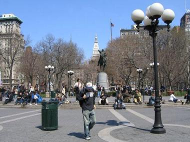 Union Square's southern end.